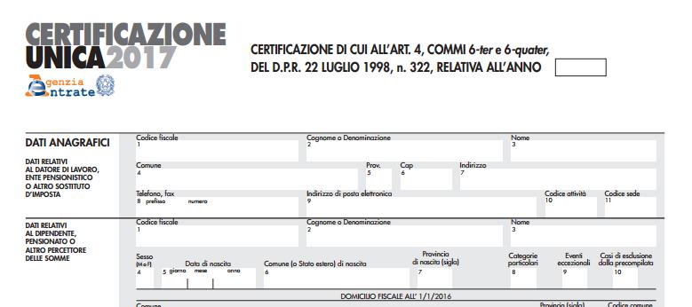 Certificazione Unica 2017: Cosa Cambia Tra U201csinteticau201d E Ordinariau201d?