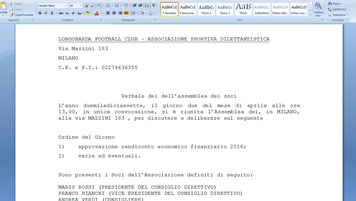 assemblea dei soci e consiglio direttivo archivi - asso360