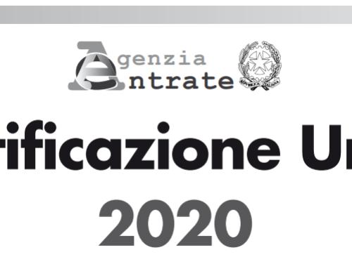 Certificazione Unica 2020 per Associazioni. Adempimento entro il 7 marzo.