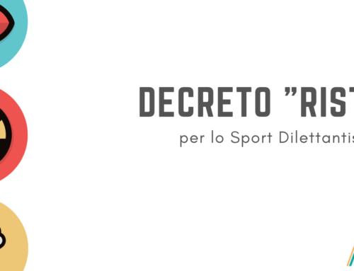 """Decreto """"RISTORI"""": novità per associazioni sportive e lavoratori."""